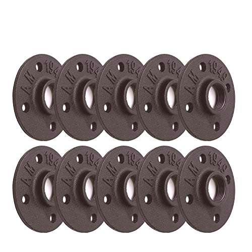 1quot Black Painted Floor Flange, Home TZH 10 Pack 4 Bolts Pipe