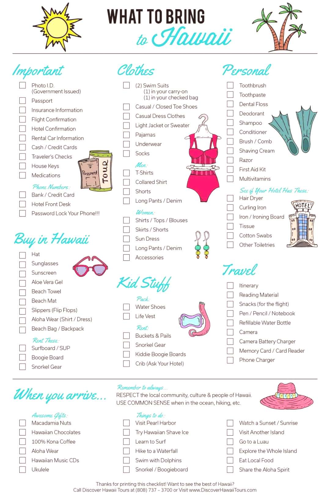 12 Hawaii packing lists, printables and outfits to wear –