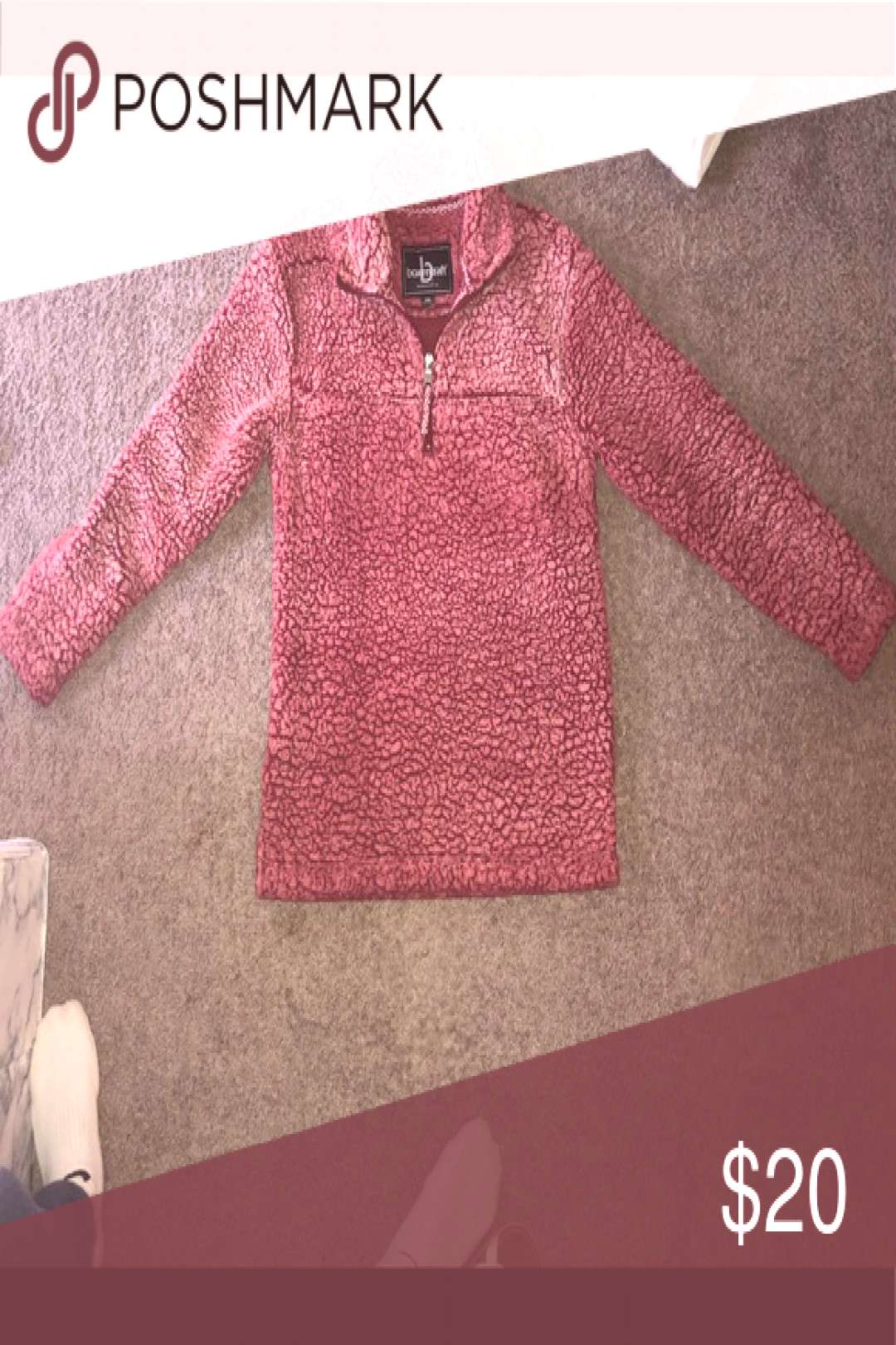 1/2 zip Pullover Sherpa  1/2 zip Pullover   super cute amp cozy   Price is negotiable ! )  • open