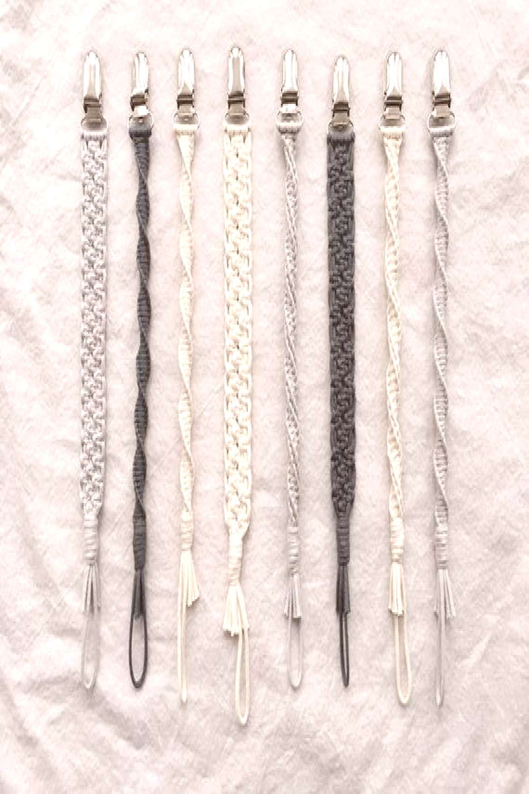 2 Macrame Baby Pacifier Clips 2 Makramee Baby Schnullerclips   Etsy