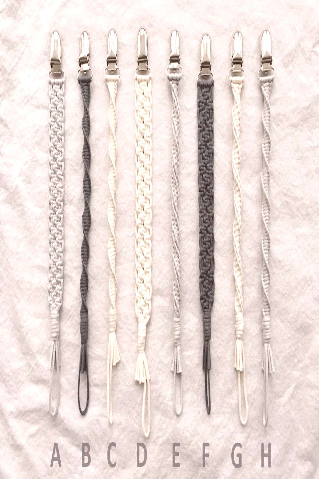 2 Macrame Baby Pacifier Clips   Etsy