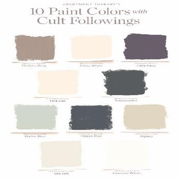 10 Paint Colors With Cult Followings | Choosing a paint color can be overwhelming. Yet, for all of