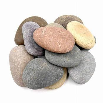 12 Extra-Large Rocks for Painting – Multi-Colored Craft
