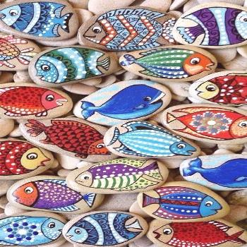 Artsy Ideas for Painted Pebble and River Stone Crafts
