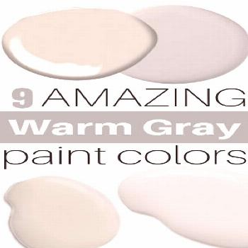 Check out the best warm gray and greige paint shades.  These neutral paint colors will work in almo