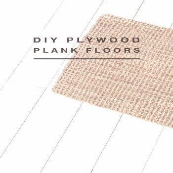 DIY plywood plank floors Easy, affordable plank flooring made with plywood. White painted floors. F