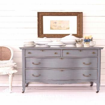 Dresser Makeover in Aviary Milk Paint Painted Dresser Makeover - Using Aviary, one of the newest co