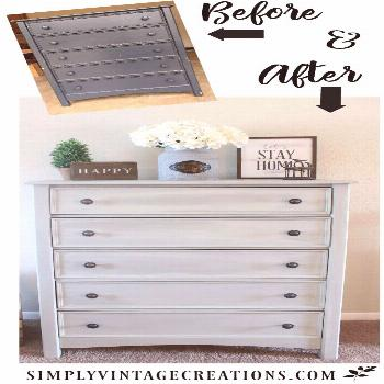 Farmhouse Dresser Makeover - How to make a color wash with chalk paint.  Dresser was painted with D