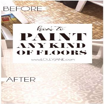 Hate your floors? PAINT THEM! The right now! Check out how easy it is to paint stenciled floors. Yo