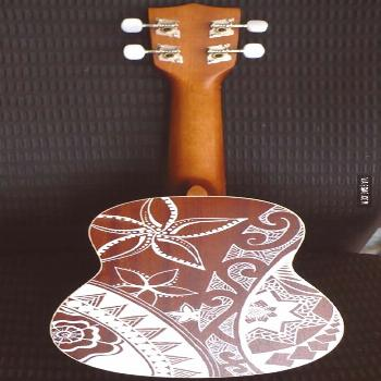 I bought a couple white paint pens and went to town on my ukulele. I'm…