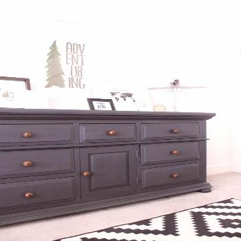 I can't believe the results of this chalkpaint dresser makeover! Honestly it looks like a completel