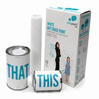 IDEAPAINT Home White Dry Erase Paint Kit, 40 SQ FT | Turn