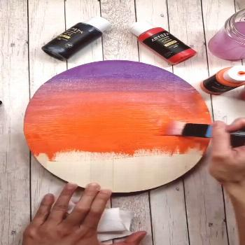 Lakeside Sunset in Acrylic Need acrylic painting ideas? Try changing the time of day that you paint