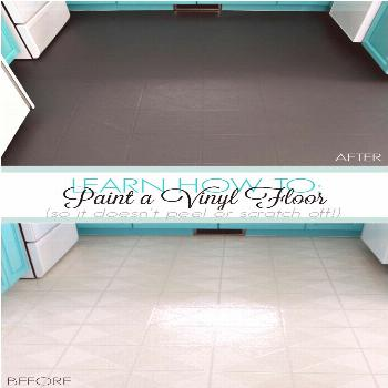 Learn How to Paint a Vinyl Floor That Won't Scratch or Peel Off. Find out how a vinyl floor has hel