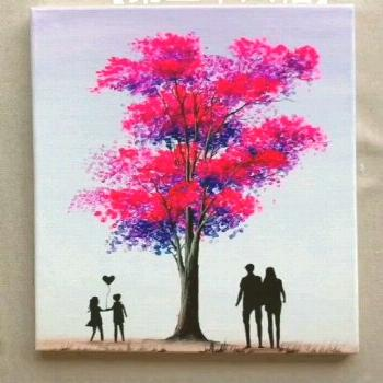 Love Tree Painting Idea in 2020 Painting Tips and Tricks l Amazing Painting Creative Artwork l Top