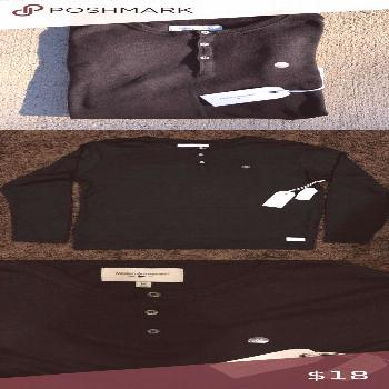 Modern Amusement Long Sleeve Henley - NWT - Fits slightly larger than your typical sz. M - Neck is