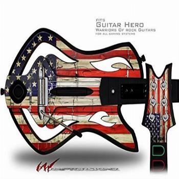 Painted Faded and Cracked USA American Flag Decal Style Skin