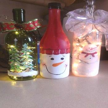 Painting Glass Bottles Christmas _ Painting Glass Bottles painting glass bottles christmas & painti
