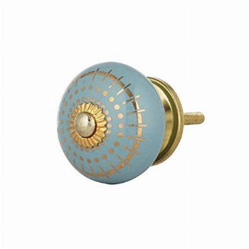 Set of 12 Hand Painted Ceramic Knobs or Pulls for Cabinets,