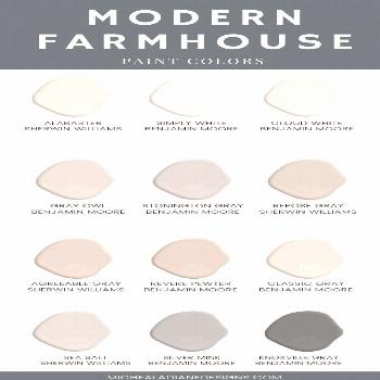 The best modern farmhouse style paint colors for your home.