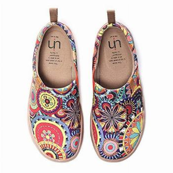 UIN Women's Blossom Painted Fashion Sneaker Canvas Slip-On