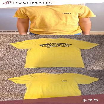 Vans t-shirt Vans light wash mustard yellow t-shirt. In perfect condition. DM me for questions !!!