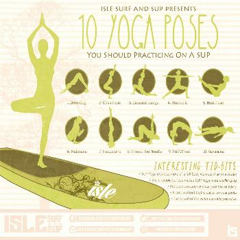 We breakdown 10 basic yoga poses that pair perfectly with your SUP.