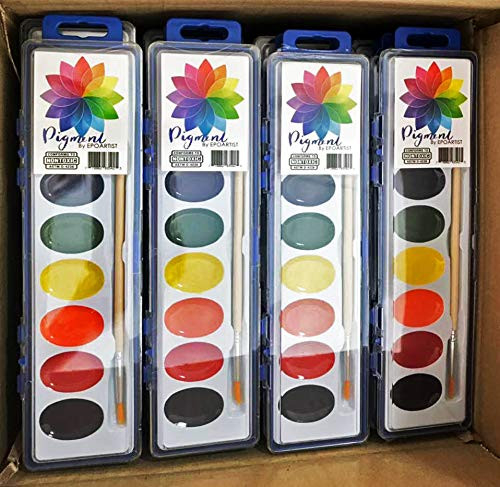36 Sets Watercolor Paint Pack Paintpack with Wood Brush