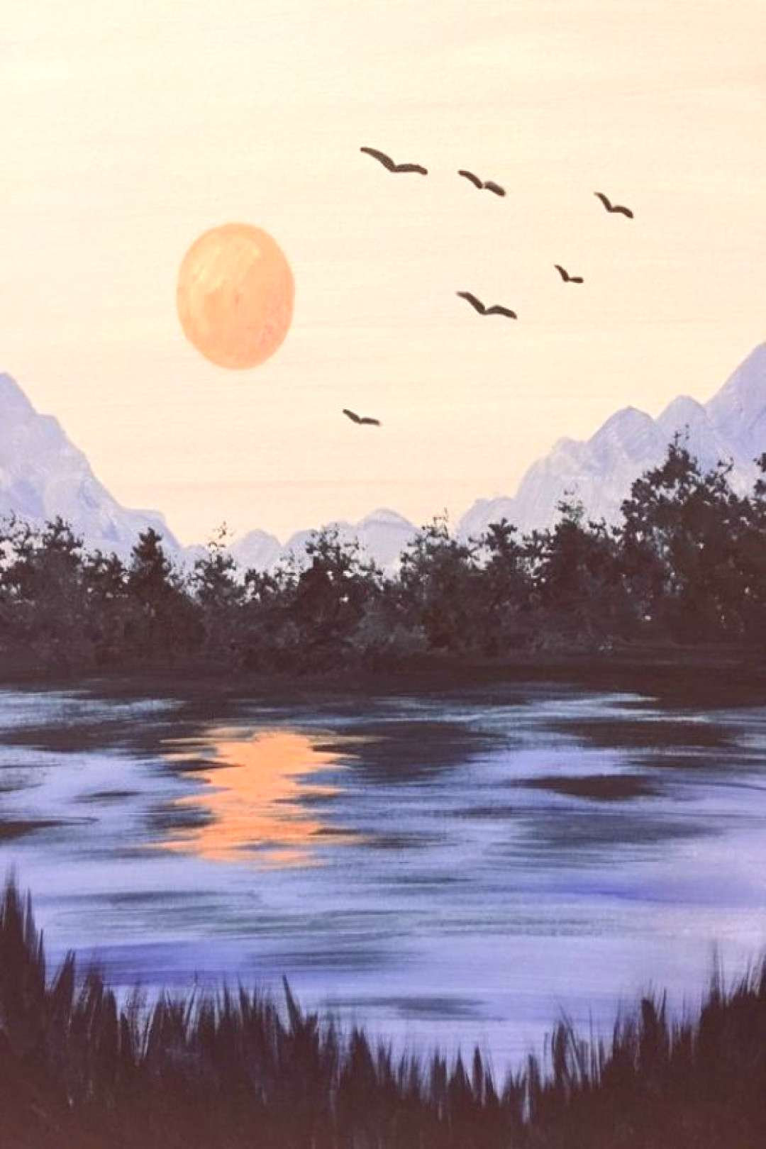 40 Simple and Easy Landscape Painting Ideas -