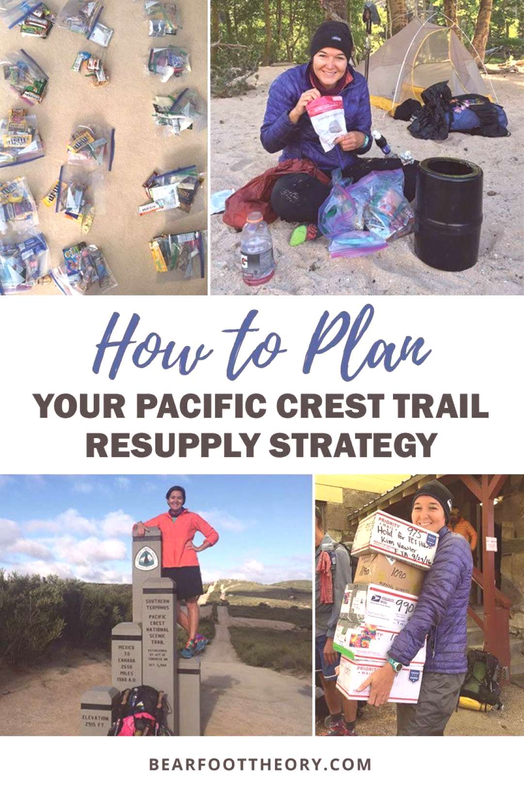 A step-by-step how-to guide for planning your Pacific Crest Trail resupply strategy - including var