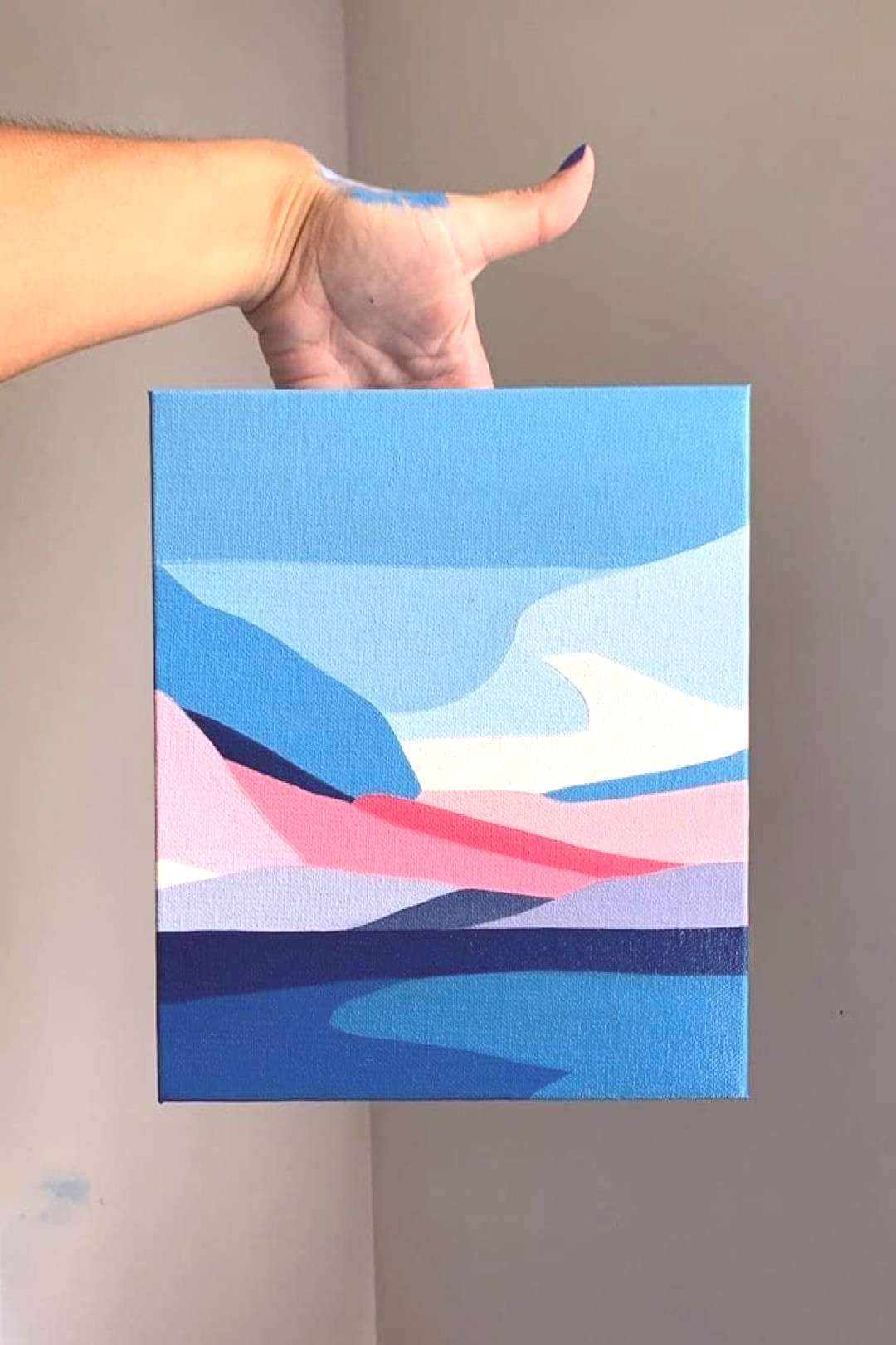 Abstract Landscape Paintings Capture the Beauty of Beaches