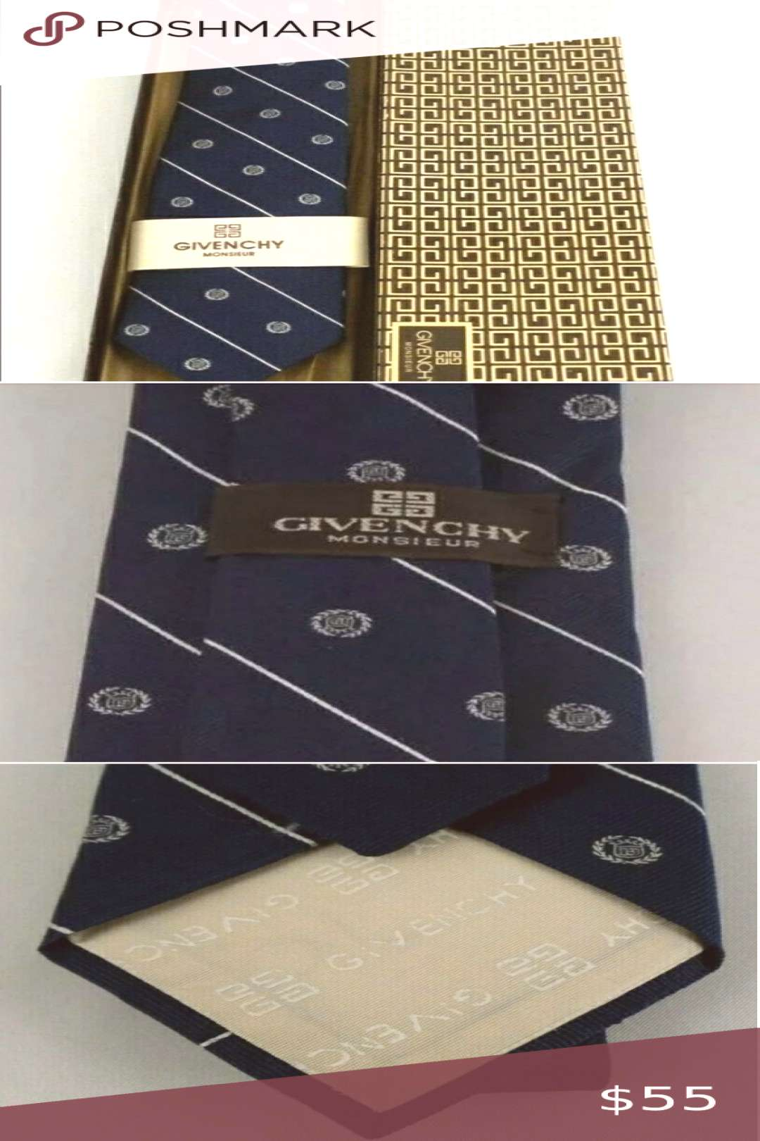 Authentic Givenchy tie This is a gently used 100% pure silk vintage monsieur multicolored knecktie.