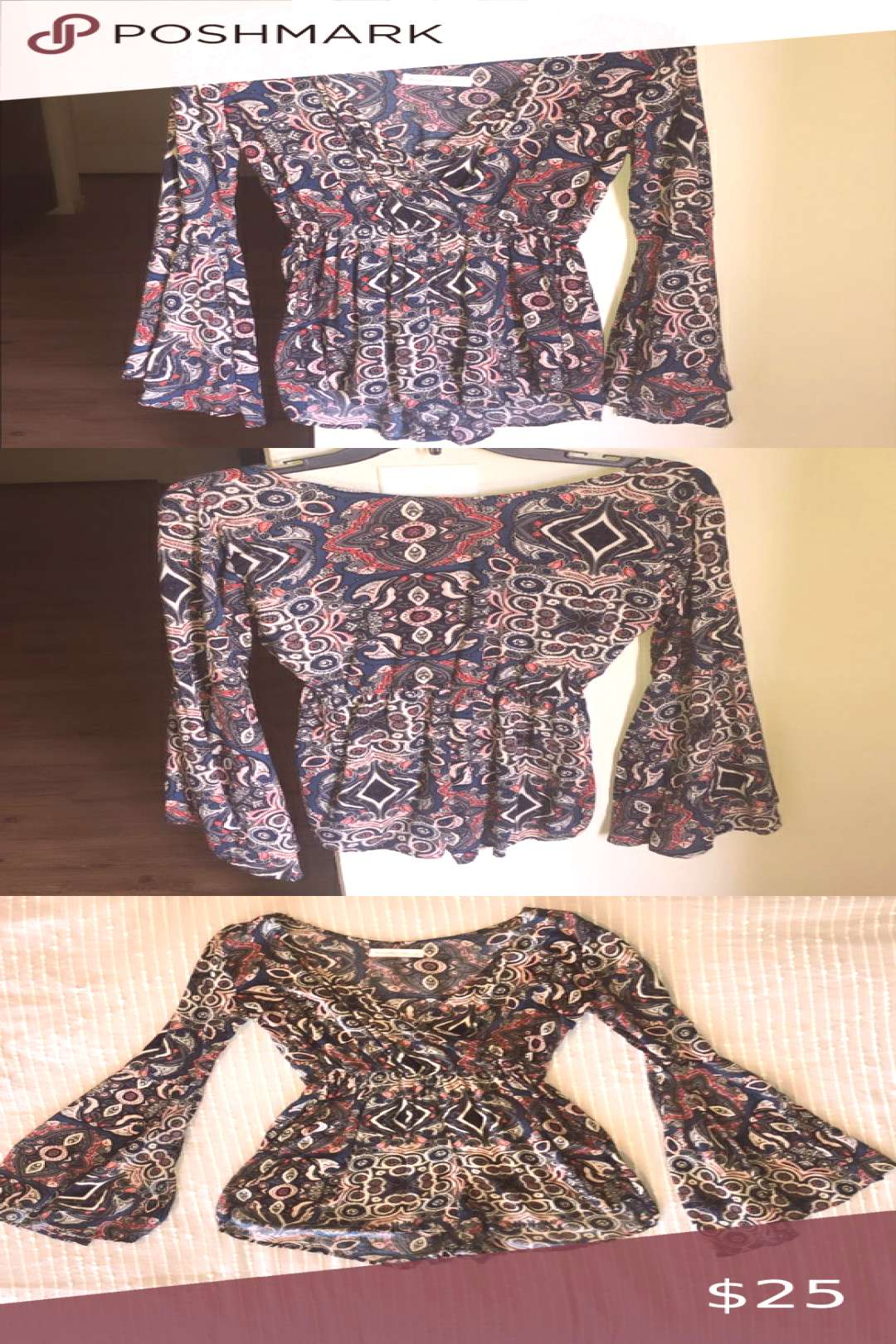 ✨Bell sleeve romper -almost brand new condition -size small  ?Make an offer or bundle amp save
