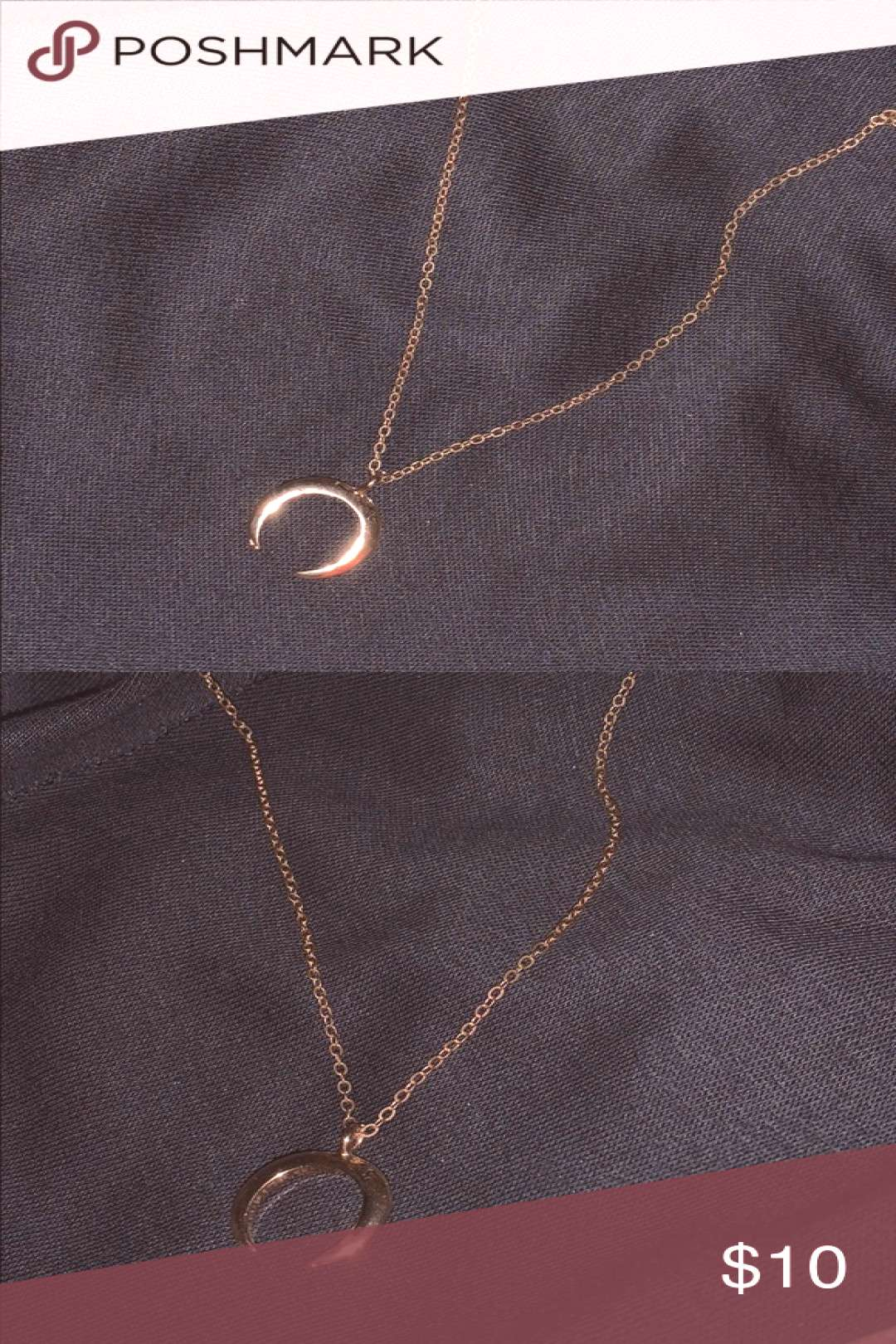 Boho gold dainty horn necklace super cute never worn trendy by Pacsun PacSun J ... , Boho gold dai
