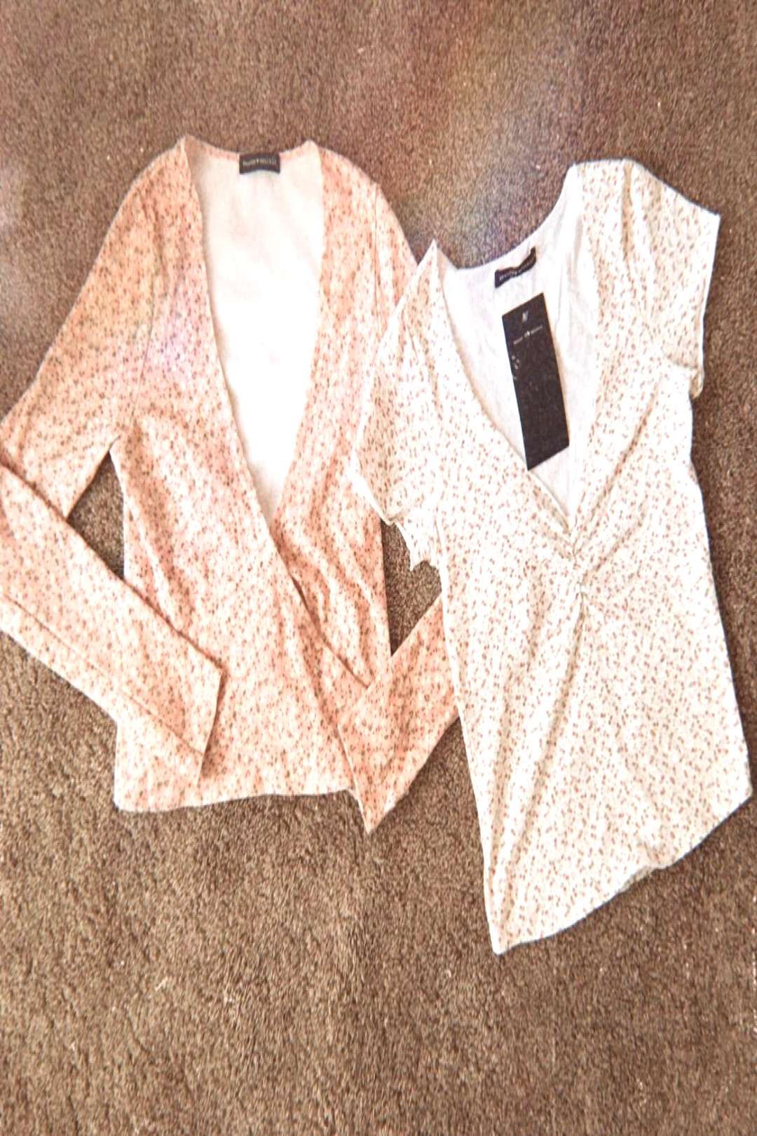 brandy melville tops ~ gina amp coco floral pink floral tie front coco top and white floral gina top