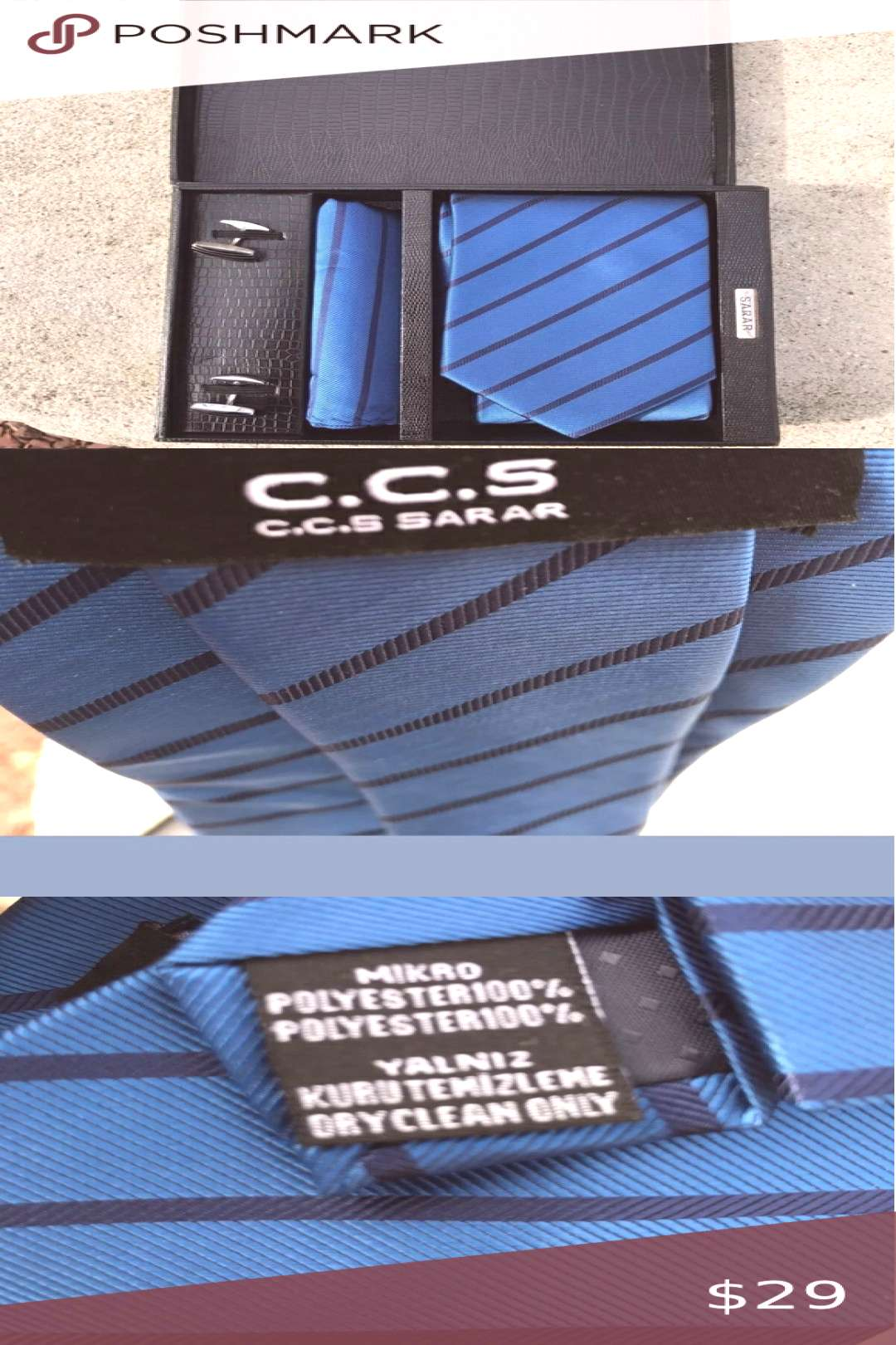 C.C.S SARAR mens tie box C.C.S SARAR Mens Tie Box. New without tags!  Box includes tie, handkerchi