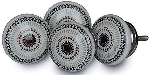 Deals for The Day - Set of 4 Hand Painted Ceramic Round