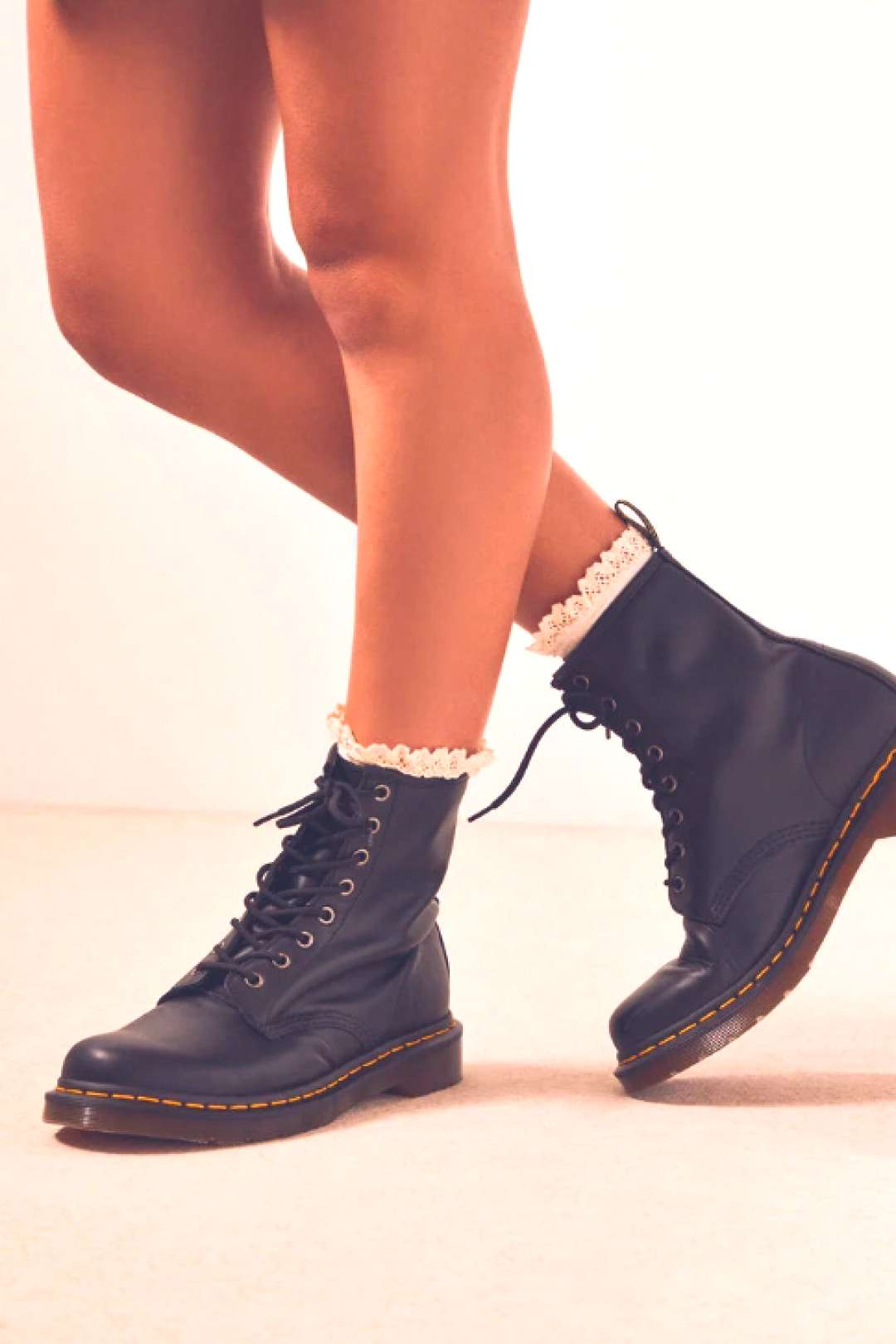 Dr Martens Black Nappa Leather Boots Dr Martens Black Nappa Leather Boots - Get ready to rock out
