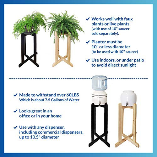 For Your Water 30quot Wood Painted Water Dispenser Crock Stand