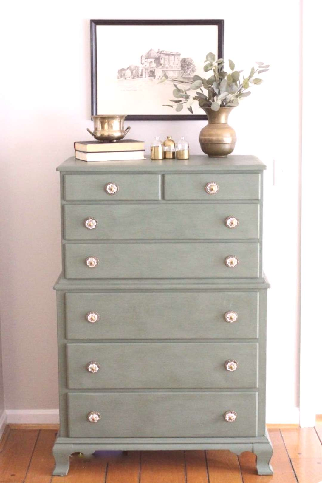Green Painted Dresser for a Brand New Look | White Cottage Home amp Living