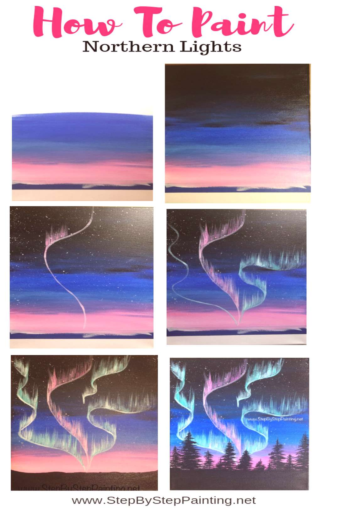 How To Paint Northern Lights