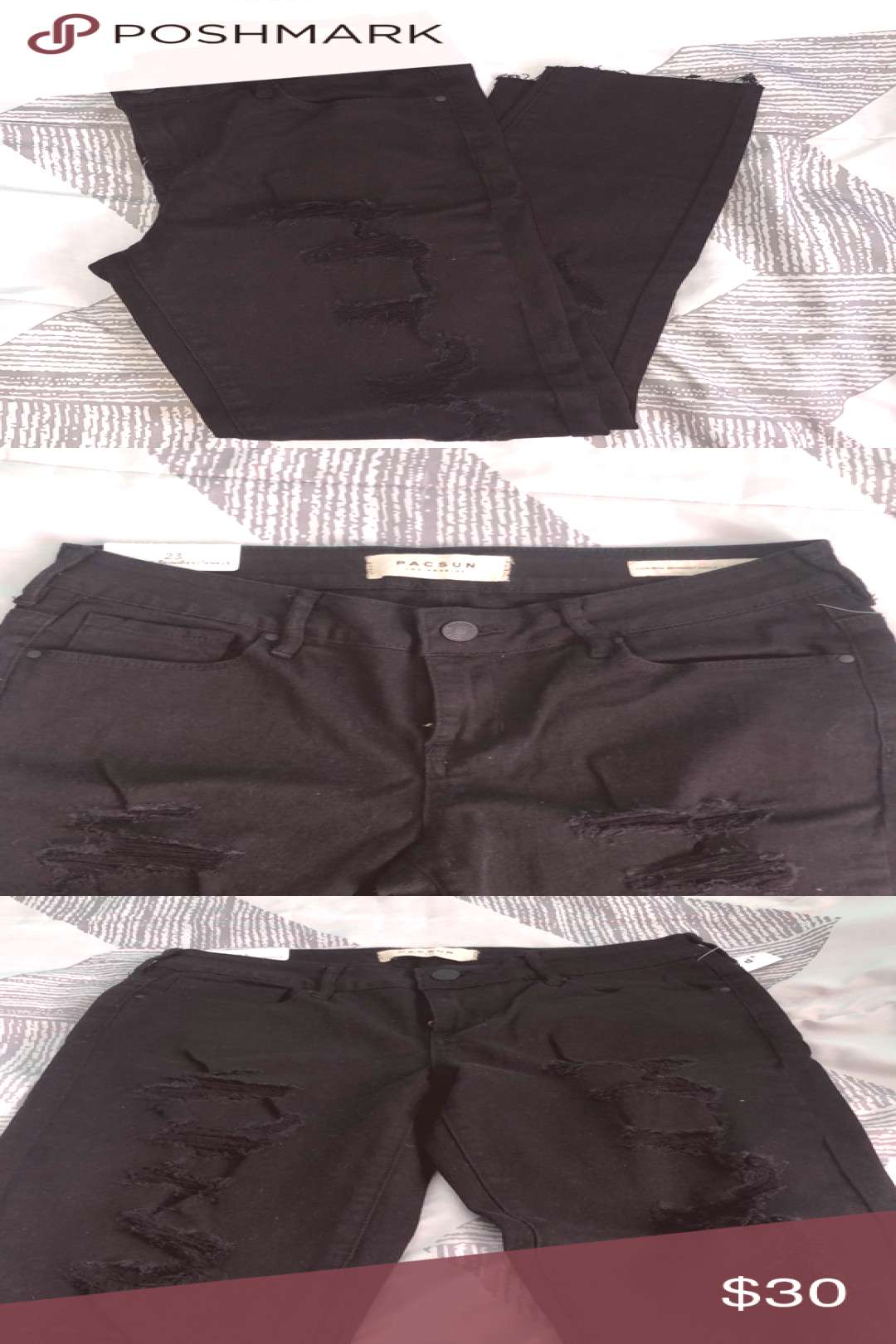 I just added this listing on Poshmark *NEW W/ TAGS* Black Ripped Pacsun Jeans.