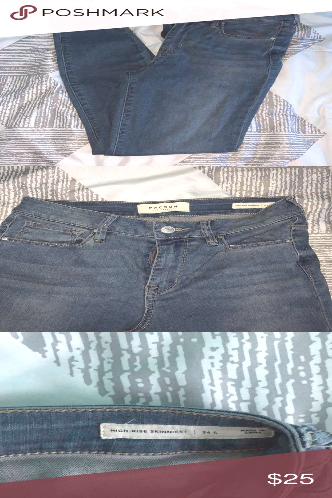 I just added this listing on Poshmark NEW W/OUT TAGS PacSun Skinny Jeans.