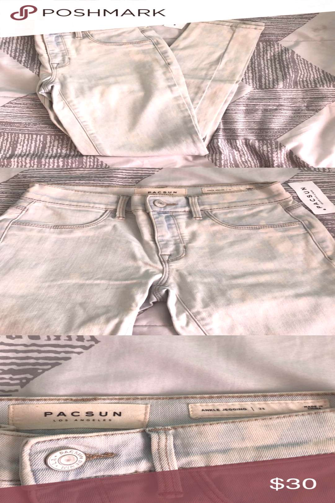 I just added this listing on Poshmark *NEW W/TAGS* Light washed Skinny Pacsun Jeans.