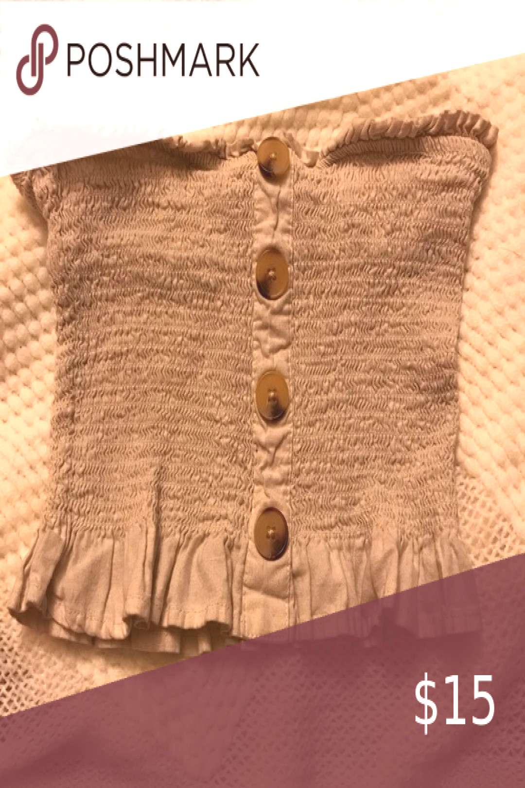 I just added this listing on Poshmark Oatmeal Tube Top.