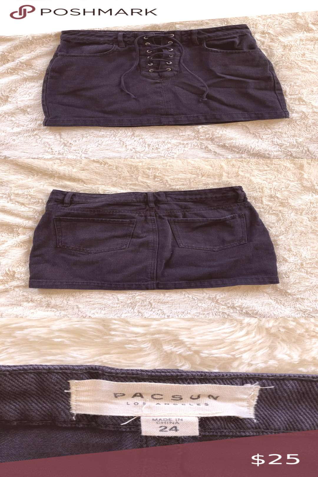 I just added this listing on Poshmark ✨PacSun black denim lace up skirt✨. amp Skirts