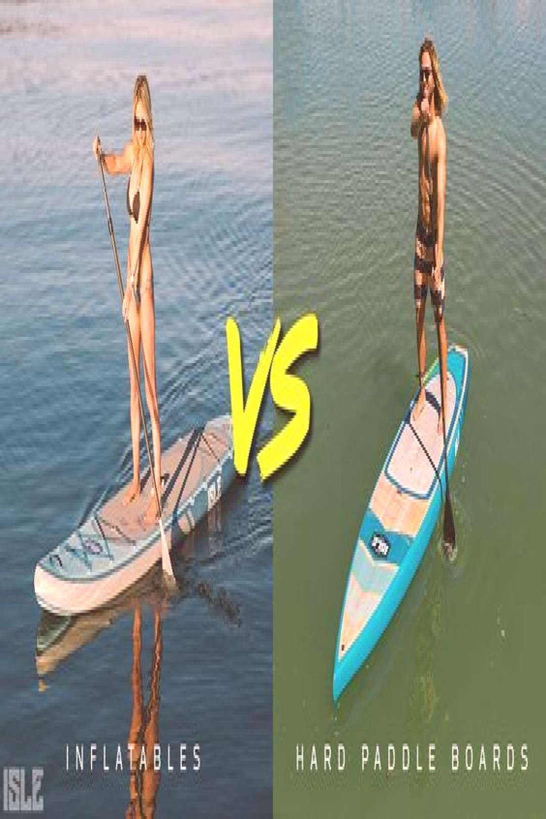 Inflatable paddle boards versus hard paddle boards