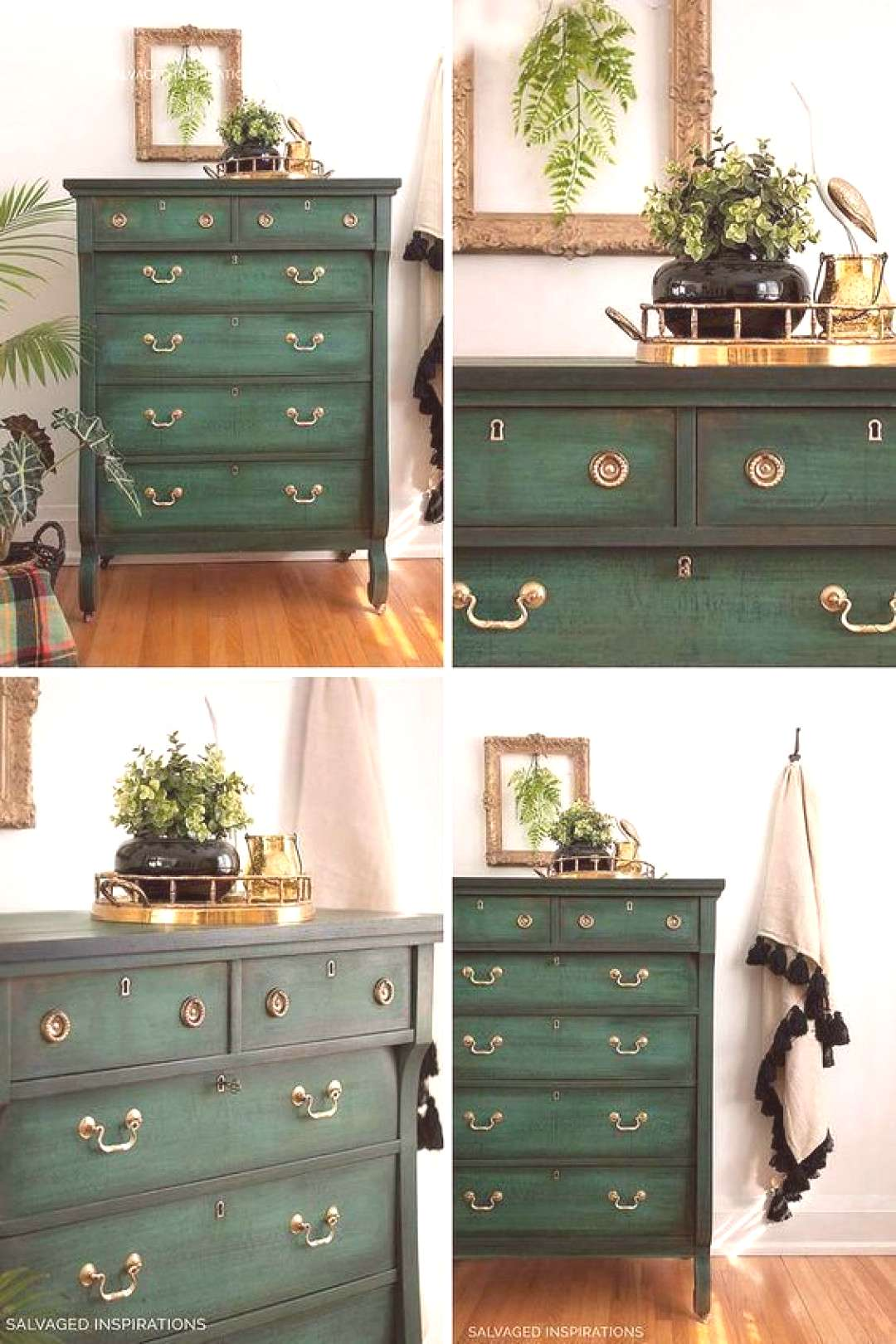 Layering Chalk Painted Dresser - Collage | Salvaged Inspirations