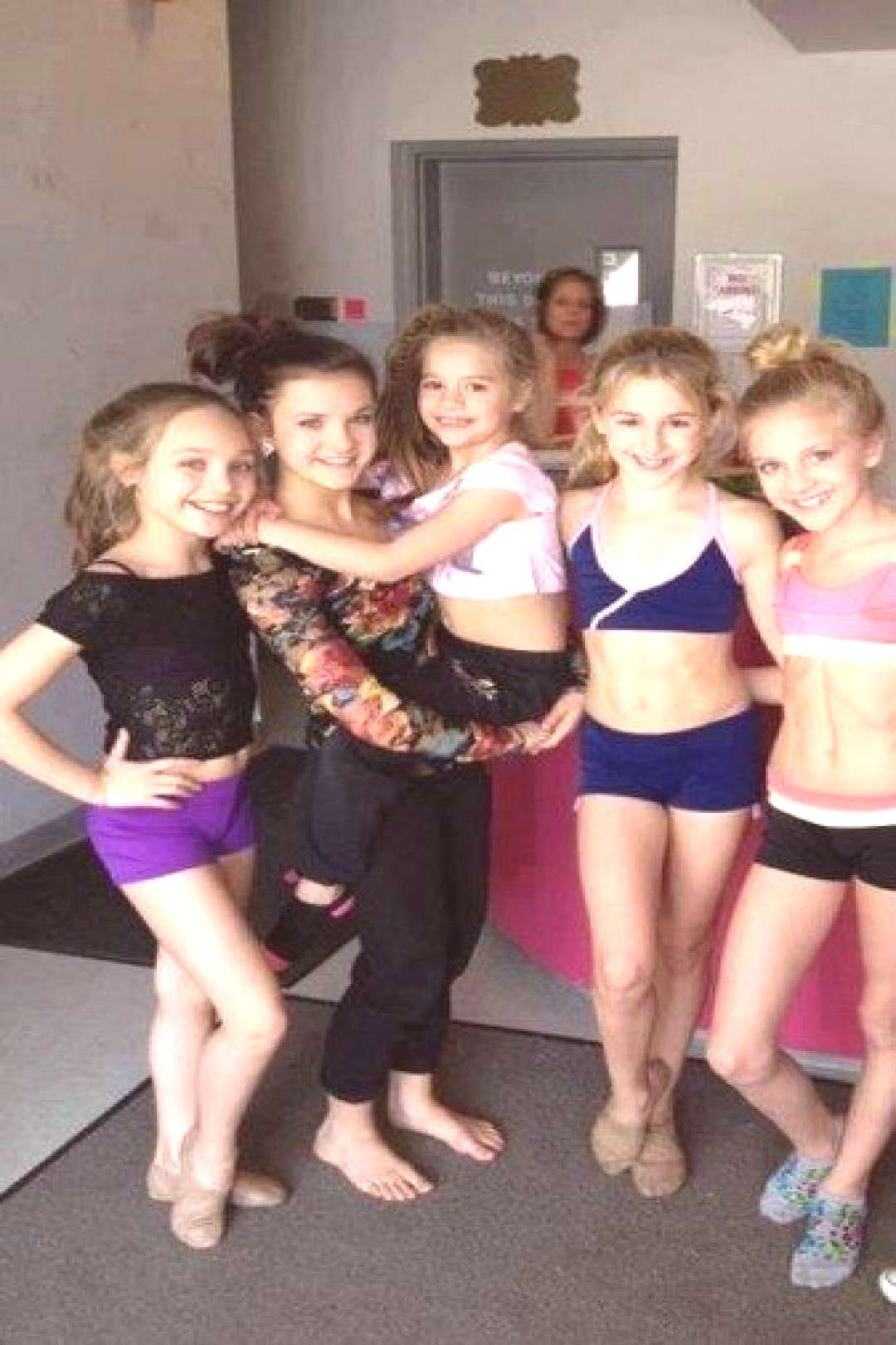 Maddie, Brooke, Mackenzie, Chloe, and Paige. Then theres Kelly in the background