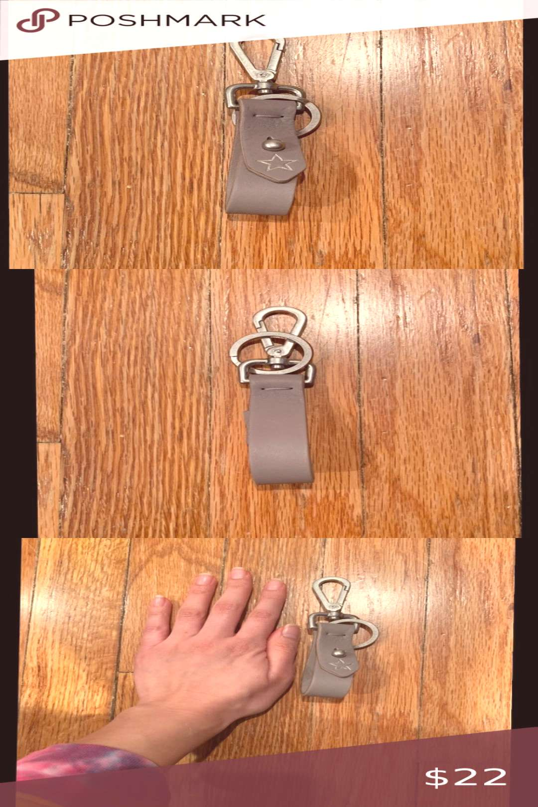 Madewell Key Fob!! Madewell Key Fob!! Gray key fob stamped with a star. From insider gift a year ag